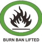 burn ban lifted 2